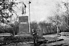 1965г. Памятник В.И.Ленину в городском саду.